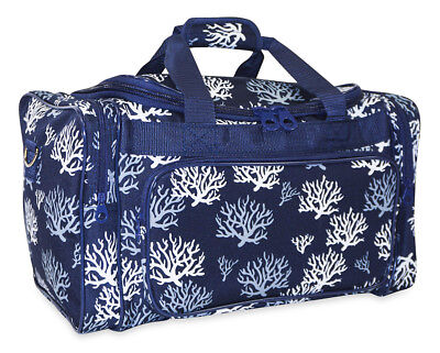 d2f66e38efe Sea Coral Womens Large Duffle Bag Duffel Carry On Luggage Gym Sports Travel