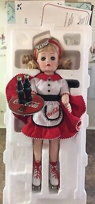 Madame Alexander Coca Cola Car Hop Doll Porcelain Danbury Mint 1999  No Stand