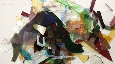 900g Stained Glass Offcuts for mosaics, jewelry making small pieces textured art