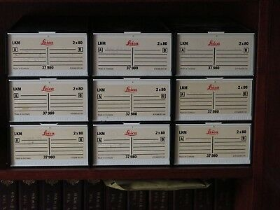 9 Cases  LEICA Slide Magazine Tray Box 35mm slides -each tray stores 80 slides