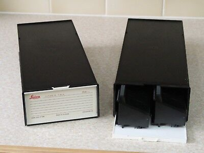 2 Cases of LEICA Slide Magazine Tray for 35mm slides, each tray holds 80 slides