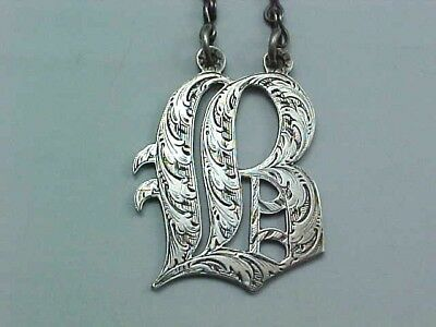 "1847 Sterling Silver Decanter Wine Label ""B"" By Rawlings & Summers Of London"