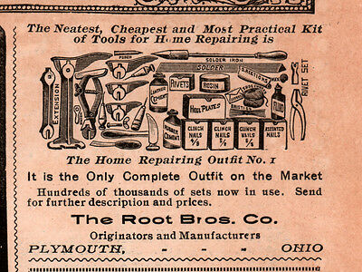 1911 Ad Root Bros Co Home Repair Tools Shoe Leather
