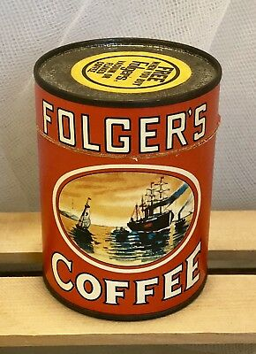 Vintage Folger's Coffee Can Puzzle