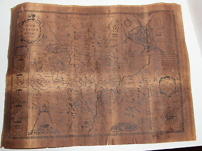 Worcestershire John Speede 1610 Old Reproduction Map