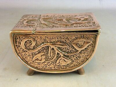 ANTIQUE ARTS & CRAFTS Copper Lidded Trinket Box Available Worldwide