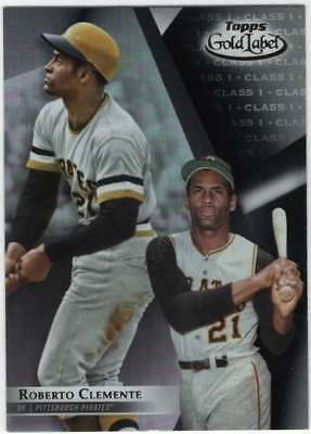 2018 Topps Gold Label Baseball Class 1 Black #80 Roberto Clemente Pirates
