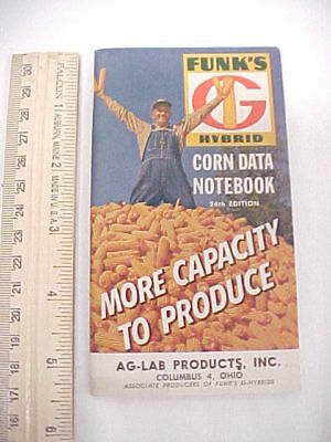 1962 Funk's Hybrid Corn Data Note Pad Booklet