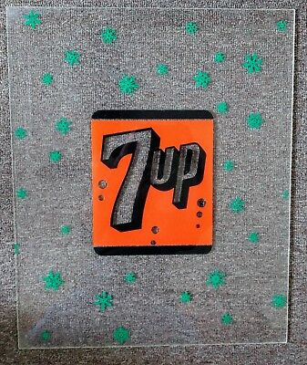 """RARE 1960s 7UP SODA """"Snowflakes"""" Translucent """"Light-Up"""" SIGN...NOS!"""