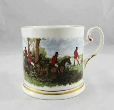 Crown Dorset Staffordshire England Hunt Scene Coffee Tea Mug (s)
