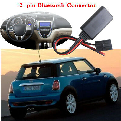 Car Audio Stereo Bluetooth 4.0 Aux Cable Adapter For BMW Mini One D Cooper & S