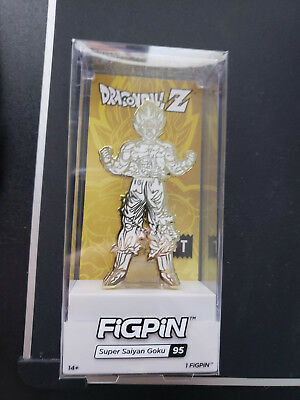Figpin Super Saiyan Goku Pin In Hand NYCC Exclusive 1/500 Bait Dragonball Z