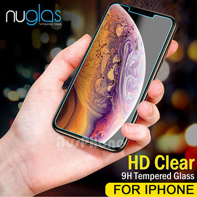 2x Apple iPhone 8 7 Plus GENUINE NUGLAS Clear Tempered Glass Screen Protector