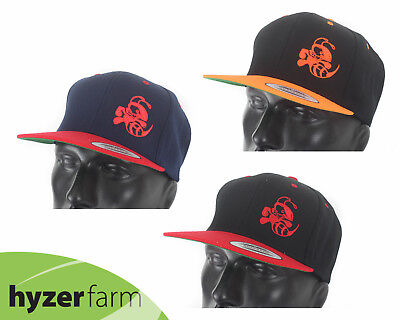DISCRAFT BUZZZ TWO-TONE FLAT BILL SNAP BACK HAT  pick color  Hyzer Farm 7409432f7466