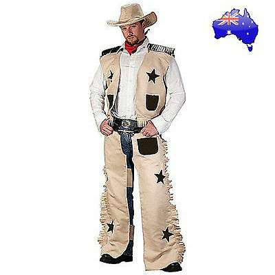 Mens Adult Cowboy Wild West Sheriff Gunslinger Texas Rodeo Fancy Dress Costume
