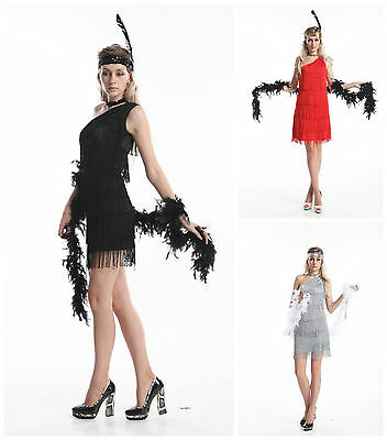 d06b029ce3 LADIES 1920S ROARING 20s Flapper Costume Charleston Gatsby Chicago ...