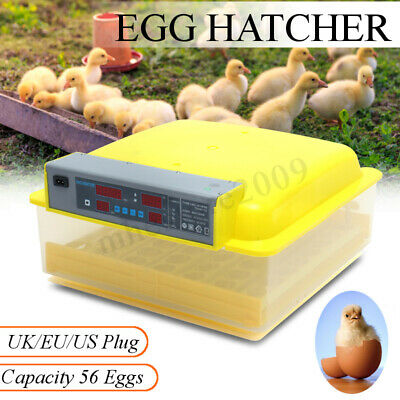 56 Egg Digital Automatic Incubator Hatcher Turning Chicken Temperature Control