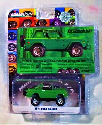 GREENLIGHT HOBBY EXCLUSIVE 1971 Ford Bronco BF Goodrich