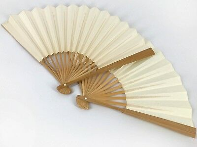 Vintage Set of 2 Japanese Natural Ceremonial Sensu Fans from Kyoto: Nov18-G