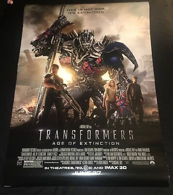2014 TRANSFORMERS 4 AGE OF EXTINCTION D/S 27x40 ORIGINAL/AUTH FINAL MOVIE POSTER