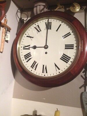 Antique/Vintage G.P.O fusee wall clock 8 day