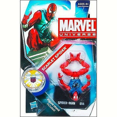 MARVEL UNIVERSE Collection__SCARLET SPIDER 3.75 inch figure + Display Stand__MIP