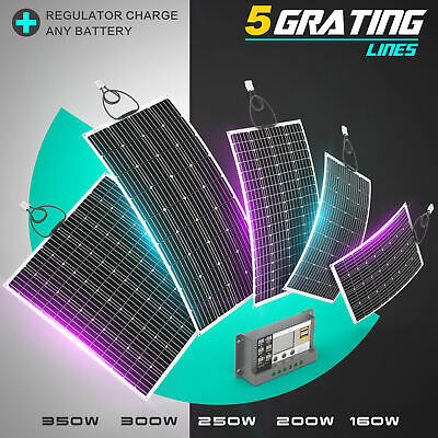 [15%OFF]100W 120W 200W 250W Flexible Solar Panel Kit Mono Caravan Power Charging
