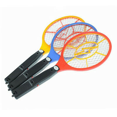 Electronic Fly Swatter Mosquito Bug Kill Electric Zapper Racket New