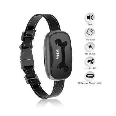 VSOO Bark Collar PES001, Humanely and No Harm Stops Dog Barking with Sound and V