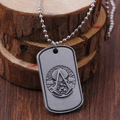 Game Assassins Creed Leather Choker Pendant Necklace keychain keyring Fans Gift