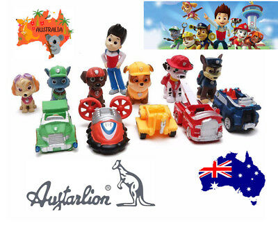 12pcs Paw Patrol Dog Puppy Rescue Character Toys Figure Figurine Cake Topper AU