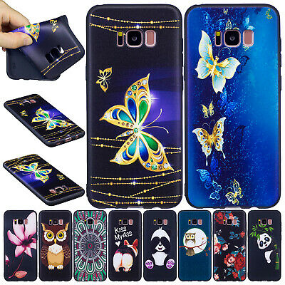 For Samsung Galaxy Note 9 S9 A6 J4 J6 Plus 2018 Soft TPU Rubber Phone Case Cover