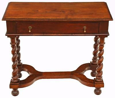 Antique Georgian walnut and fruitwood desk writing side table 18th Century