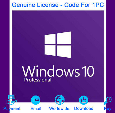 Genuine Windows 10 Pro Professional 32/64 bit Product Key For Activation License