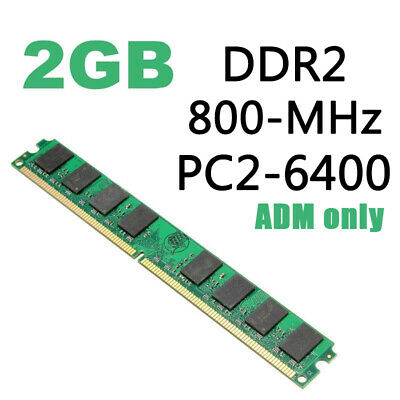 2GB DIMM DDR2 800MHZ PC2-6400 240-PIN Memory RAM For AMD CPU Motherboard Desktop
