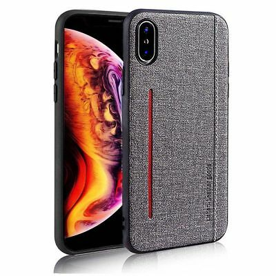 For Apple iPhone X XR XS Max 6s 7 8 Plus Retro Leather magnetic Back Case Cover