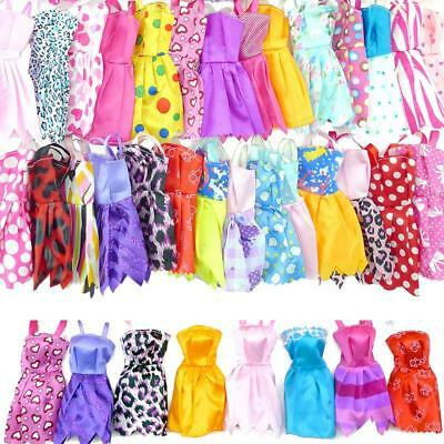 20pcs Dolls Handmade Party Clothes Dress Outfit for Barbie Doll Birthday Gifts