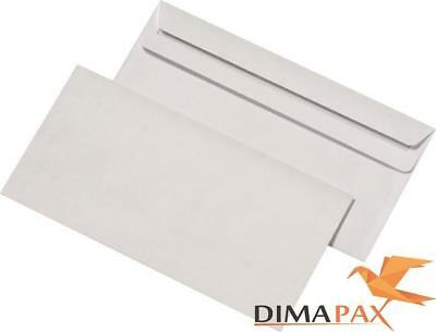 3000 x Envelopes Din Long 110 x 220 mm Self-Adhesive Window White