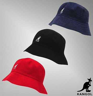 Mens Kangol Stitched Terry Cloth Boucle Bucket Hat Sizes from S to XL