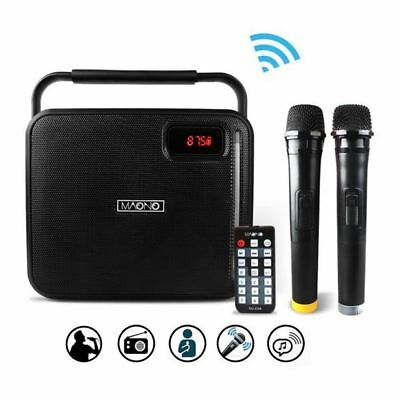 Maono 30w Bluetooth Speaker & Voice Amplifier Wireless Microphone System - Black
