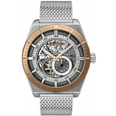 Hugo Boss Black Signature Skeleton Automatic Mens Watch 1513657