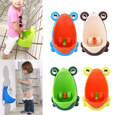 AA7E Lovely Frog Children Pee Potty Training Urinal Early Learning Trainer Bathr