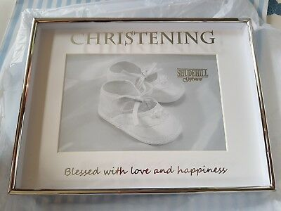 Shudehill Giftware Christening photo frame, Beautiful, Brand new in box.