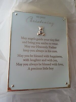 Christening Poem Plaque For A Boy Option To Personalise