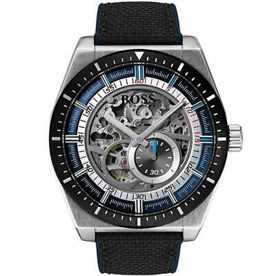Hugo Boss Black Signature Skeleton Automatic Mens Watch 1513643
