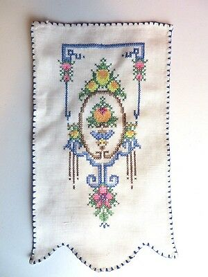 True Vintage Hand Embroidered Linen Armchair Doily