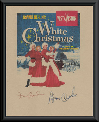 A White Christmas Movie Poster & Autographs Reprint On 70 Year Old Paper P174