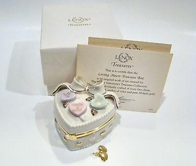 LENOX Porcelain Hinged Box  - Loving Heart Hinged Box with Certificate and Box