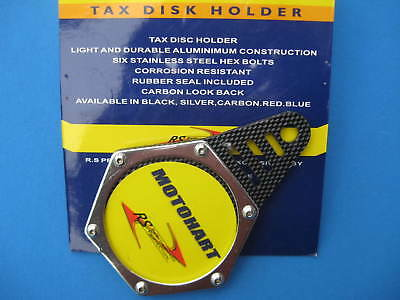 Motorcycle  Tax Disc Holder    ( Carbon Look )
