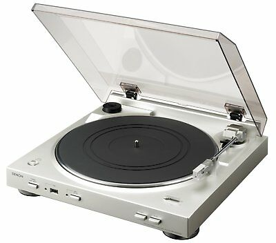 Denon Fully Automatic Turntable DP-200USB USB/MP3 Playback - Silver